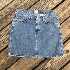 Calvin Klein Vintage Jean Skirt